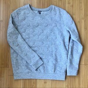 CHELSEA28 | Gray Polka Dot Sweatshirt